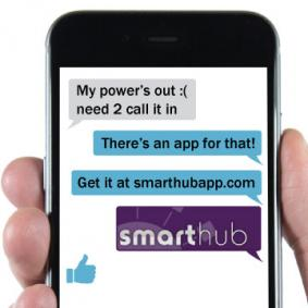 SmartHub info on phone